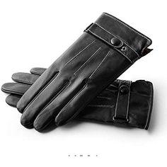 Hommes Hiver Chaud Écran Tactile Texto en Cuir dagneau Conduite Gants en  Cuir De Moto Cachemire 21042f725ec