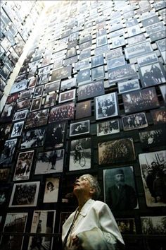 Holocaust museum in Washington DC--this is a very big room where victims of the Holocaust are pictured
