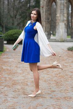 #fashion #fashionista #fashionblogger #slovakblogger #ootd #springoutfit #look #bluedress