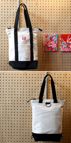Canvas 3way Tote