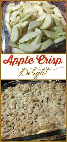 Delicious Apple Crisp Delight-- so easy to make!
