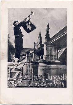 The postcard was a remembrance card of the 'Jungvolk Pfingst Treffen' in Konstanz in 1934