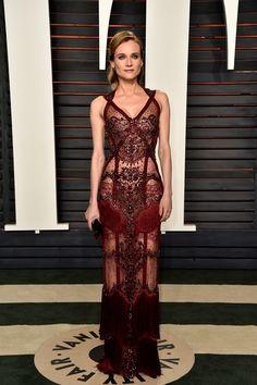 Diane Kruger look Reem Acra Oscar 2016 - party dress / vestido de festa