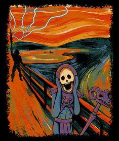 """Skeletor and He-Man """"Rebel Scream"""" based on """"The Scream"""" by Edvard Munch #MOTU"""