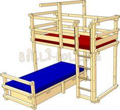 eck etagenbett mit schr ger leiter l form dolphin moby kiefer etagenbett. Black Bedroom Furniture Sets. Home Design Ideas