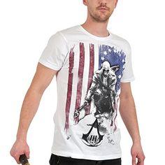 Assassin's Creed 3 - Camiseta Bandera Connor, Talla L #camiseta #starwars #marvel #gift