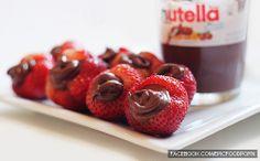 strawberries will always need their dear friend,Nutella :)