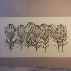 Charcoal on paper. Pink ice proteas. Melissa Von Brughan Art Charcoal Picture, Protea Art, Creative Workshop, Learn Art, Abstract Canvas Art, Botanical Drawings, Lovers Art, Art Tutorials, Painting Inspiration