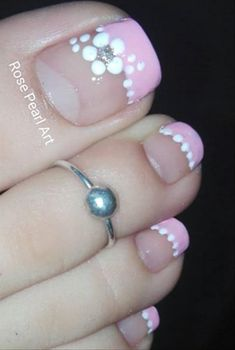 Manicure Nail Designs, Pedicure Designs, Toe Nail Designs, Nail Manicure, Pretty Toe Nails, Cute Toe Nails, Toe Nail Art, French Tip Nail Designs, Pretty Nail Designs