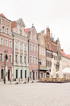 The streets of Poznan, Poland.