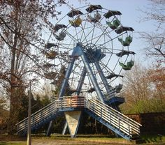 Dunaújvárosi Amusement Park, Hungary 1952-1993 - the ferris wheel was demonlished in 2006