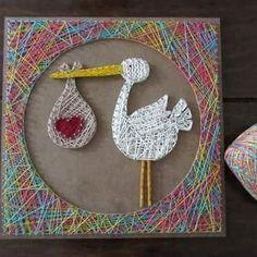 Cegonha #presente #stringart #decoracao #artesanato