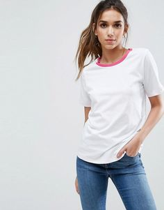 T-Shirt with Tipped Detail