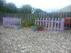 Purple Pallet Picket Fence