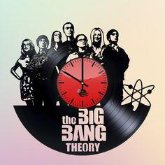 BIG BANG THEORY HANDMADE VINYL RECORD WALL CLOCK