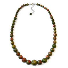 Pearlz Ocean Unakite Journey Necklace - Overstock™ Shopping - Top Rated Pearlz Ocean Gemstone Necklaces