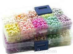7mm flat back pearls in a mixture of colours in two box sets