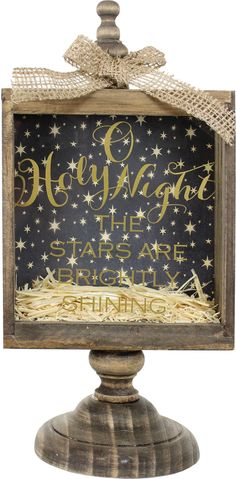 Holy Night Pedestal Shadowbox Project from Crafts Direct Dollar Tree Christmas, Christmas Wood, Christmas Signs, Christmas Projects, Holiday Crafts, Holiday Fun, Christmas Holidays, Christmas Decorations, Christmas Ornaments