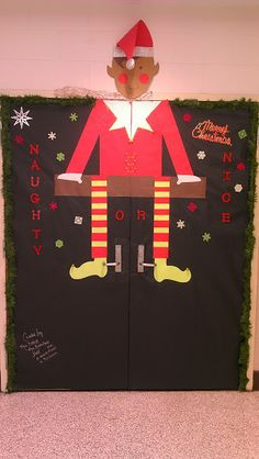 Gentil Library Double Door Christmas Decoration