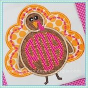 Monogram Turkey Applique embroidery-boutique