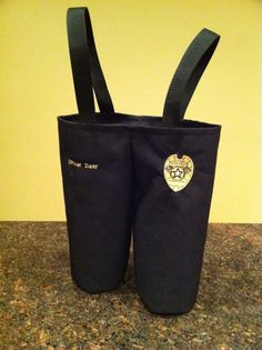 Nifty idea for a law enforcement friend. Gifts For Cops, Police Gifts, Police Love, Retirement Parties, Public Service, Bottle Holders, Law Enforcement, Police Officer, Nifty