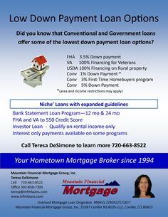 Low Down Payment Loan Options
