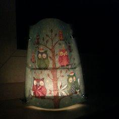 #teelicht #laterne #made #by #myself #maliniert #laminiergerät #servietten #eulen #winter #baum