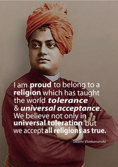 This quote is taken from 'The Complete Works of Swami Vivekananda'. Swami Vivekananda, a Hindu philosopher  saint, was responsible for introducing the practice and teachings of Yoga and vedanta* to the West at the Parliament of World Religions in Chicago, 1893. What's impressive is that he began his speech in Chicago with: 'Sisters and brothers of America..' to which the audience of 7000 gave him a round of applause for 3 minutes non-stop.*vedanta is the ...