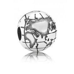 Pandora Clip argent globe 791182 Pandora