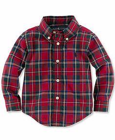 Ralph Lauren Baby Shirt, Baby Boys Long-Sleeve Poplin Shirt - Kids Baby Boy (0-24 months) - Macy's