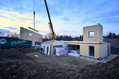 Průběh výstavby rodinného domu v Křeslicích. #Drevostavby