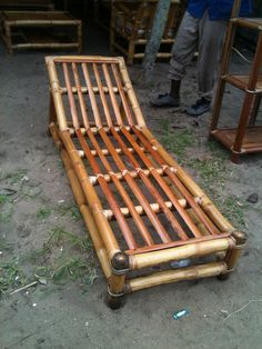 Bamboo chaise lounge from west africa. Soon available in Canada!