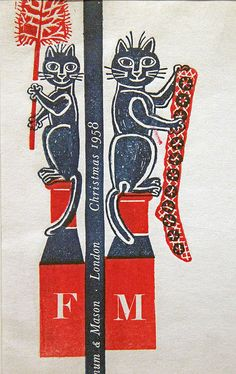 Design for Christmas order form, Fortnum and Mason, Edward Bawden, 1958