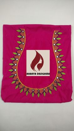 New Saree Blouse Designs, Cutwork Blouse Designs, Saree Kuchu Designs, Churidar Designs, Simple Blouse Designs, Embroidery Neck Designs, Embroidery On Clothes, Embroidery Works, Mirror Work Blouse Design