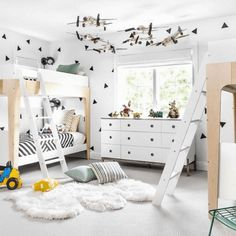 Boy Room - Design photos, ideas and inspiration. Amazing gallery of interior design and decorating ideas of Boy Room in girl's rooms, bathrooms, boy's rooms by elite interior designers - Page 12 Boys Room Design, Home Decoracion, Triangle Wall, White Nursery, Kid Spaces, Bedroom Decor, Bedroom Lamps, Bedroom Lighting, Bedroom Inspo