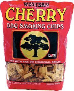 Bayou Classic Western Cherry Smoking Chips - 12 Pound Bag