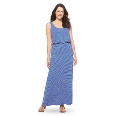 Women's Striped Easy Waist Maxi Dress Merona®
