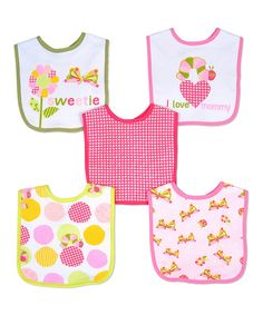 This The World of Eric Carle Pink Flower & Caterpillar Eric Carle Bib Set by The World of Eric Carle is perfect! #zulilyfinds