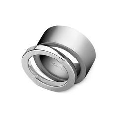 ck Calvin Klein Ring Set, Stainless Steel Wide and Thin Band Rings 038584e85a