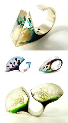 Casa Kiro, incredible resin rings