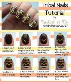 nail art for short nails - tutorial