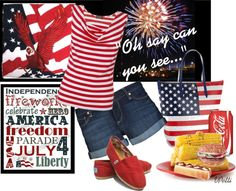 """Happy 4th Of July"" by vickipetti on Polyvore"