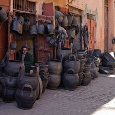 MOROCCAN RECYCLED TIRE BASKETS