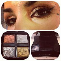 Sparkle-copper eyes using @illamasqua 's Liquid Metal Palette! #makeuptalk - @thekatvond- #webstagram