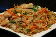 Chinese Stir-Fried Noodles with Shrimp Recipe