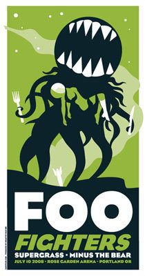 Foo Fighters 2008 Gig Poster by Stiles