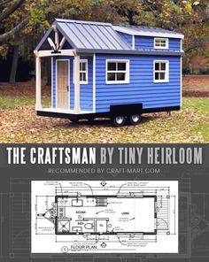 17 Best Custom Tiny House Trailers and Kits with Plans for Super-Tight Budget Tiny House Trailer - The Craftsman by Tiny Heirloom - One of the 17 Best Custom Tiny House Trailers and Kits with Plans, the most affordable tiny houses on wheels. You can order