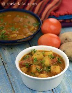 Batata Tomato Rassa Bhaji recipe | by Tarla Dalal | Tarladalal.com | #40188