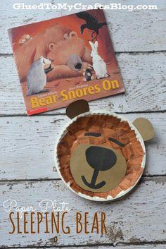 Paper Plate Sleeping Bear {Kid Craft}