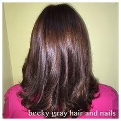 Becky gray hair and Nails wella koleston perfect so shiny